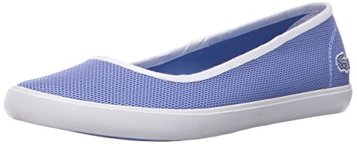 Lacoste Women's Marthe Slip on 216 1 Flat, Blue, 6 M US