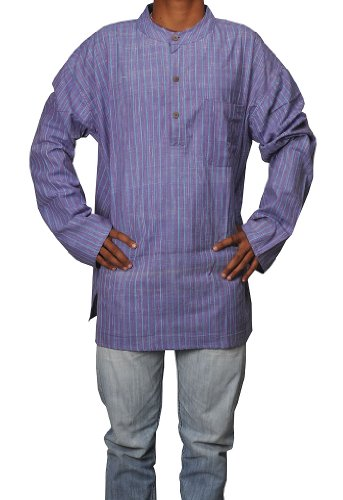Men's Casual Khadi Cotton Short Kurta Fabric For Winter & Summer Size-5XL
