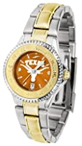 Texas Longhorns Competitor AnoChrome Ladies Watch with Two-Tone Band