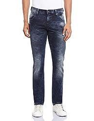 Pepe Jeans Men's PM2018274-3 Slim Fit Jeans (8903872890941_PM2018274_34W x 34L_Bk-Worn)