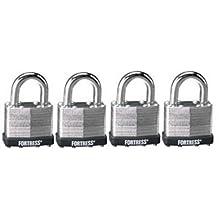 Master Lock 1803Q Laminated Steel Padlock, 1-1/2-inch, 4-Pack