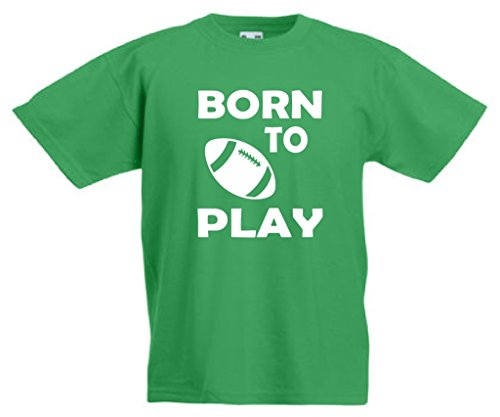 Born to Play Rugby per bambini T-Shirt 3-13anni 468