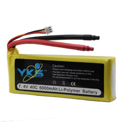 7.4v 5000mah 40c Rechargeable Rc Heli Lipo Battery
