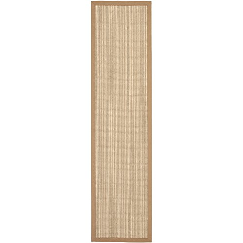 Safavieh Natural Fiber Collection NF442D Hand Woven Tan Jute Runner, 2 feet 6 inches by 14 feet (2'6