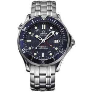 NEW JAMES BOND OMEGA SEAMASTER CO-AXIAL MENS GMT WATCH 2535.80.00