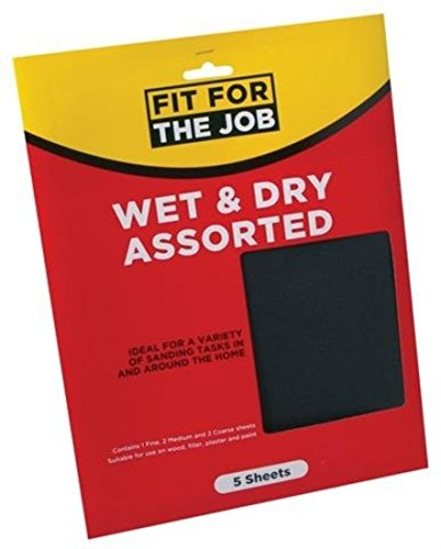 fit-for-the-job-5-x-sheets-wet-and-dry-assorted-sand-paper-mixed-grit
