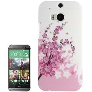 Plum Flower Pattern Plastic Case for HTC One / M8