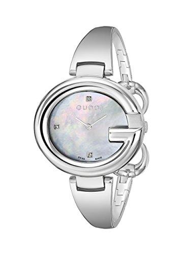 Gucci  YA134303 - Reloj de cuarzo para mujer, con correa de acero inoxidable, color plateado