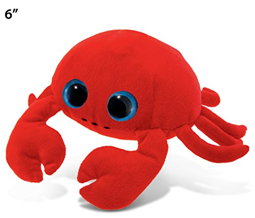 Puzzled Big Eye Red Crab Plush, 6""