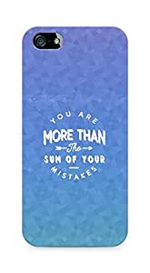 AMEZ you are more than the sum of your mistakes Back Cover For Apple iPhone 5s