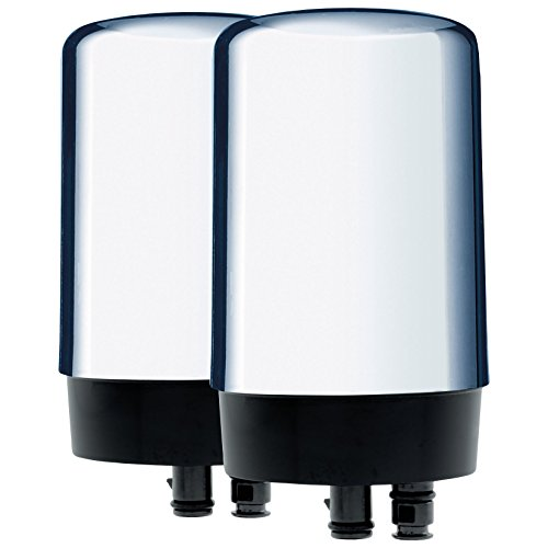 Brita On Tap Faucet Water Filter System Replacement Filters, Chrome, 2 Count (Chrome Faucet Water Filter compare prices)