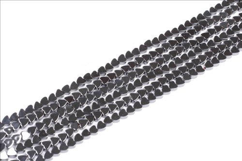 Sweet & Happy Girl'S Store 4Mm Heart Black Hematite Gemstone Beads Strand 15