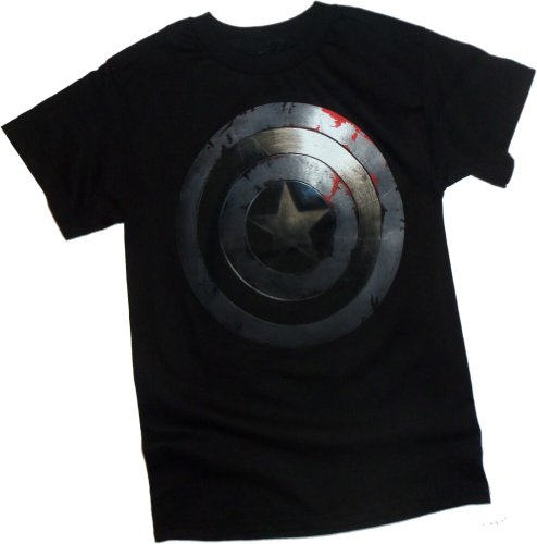 Beaten Shield -- Captain America: The Winter Soldier Movie T-Shirt
