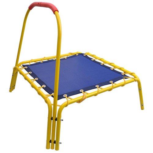 AW-35x35x33-Indoor-Outdoor-Mini-Trampoline-Kids-Bouncer-Bar-Rebounder-Jumper-Handle-Fun