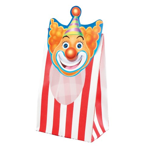 Creative Converting Big Top Birthday 8 Count Window Treat Bags