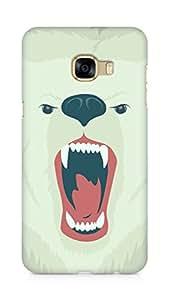 Amez designer printed 3d premium high quality back case cover for Samsung Galaxy C5 (Bear face art illust soft)