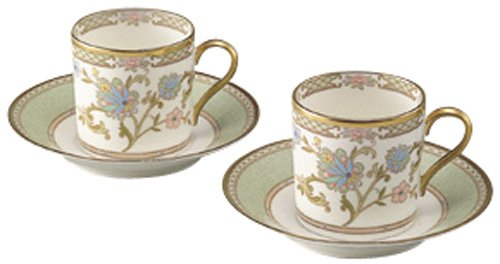 Noritake Bone China Tea And Coffee Yoshino Bowl Dish Pair Set Y6987/9983 (Japan Import)