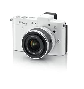 Nikon 1 V1 10.1 MP HD Digital Camera with 10-30mm VR 1 NIKKOR Lens (White)