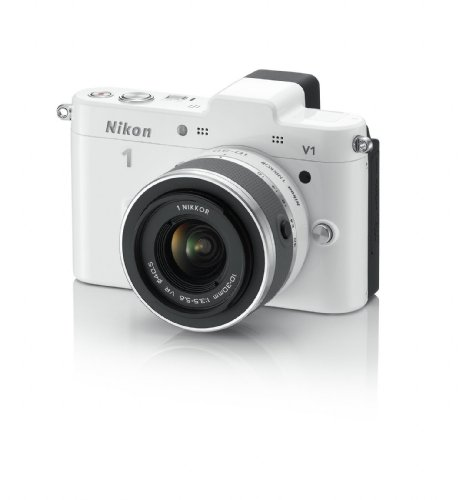 41WnynkVhfL Nikon 1 V1 10.1 MP HD Digital Camera with 10 30mm VR 1 NIKKOR Lens (White)
