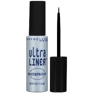 Maybelline New York Ultra-Liner Liquid Liner, Waterproof, Black 135L-01 , .25 fl oz (7.3 ml)