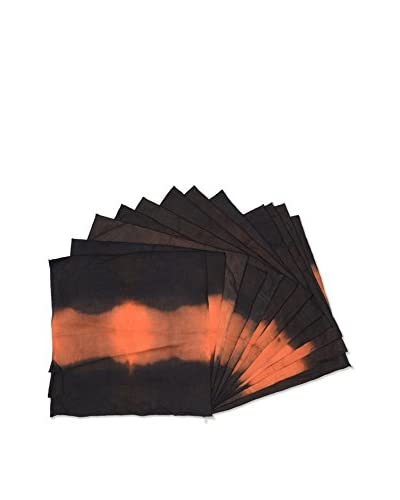Uptown Down Set of 12 One-of-a-Kind Hand-Dyed Napkins