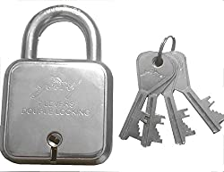 Godrej Square Padlock 7 Levers with 4 (Four) Keys By Mansha Hardware