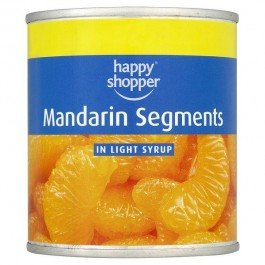 Happy Shopper Mandarin Segments in Light Syrup 12x312g Cans