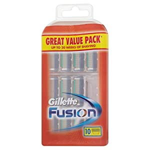 Gillette Fusion Manual Razor Blades (Pack of 10)