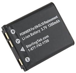 STK's Nikon EN-EL10 Battery 1300 mAH for Coolpix S3000, S4000, S220, S570, S210, S230, S60, S205, S80, S200, S600, S5100, S520, S700, S500, S510