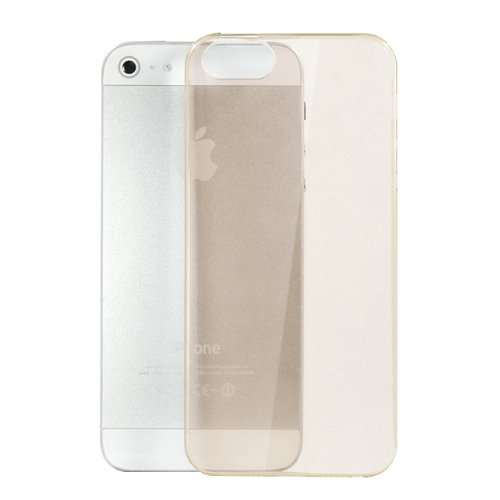 Moon Monkey Ultra-Thin Slim Transparent Skid Resistance Protective Cover Case For Iphone 5 5S (Mm369) (Khaki)