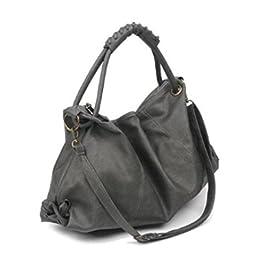 Maison De Decoration©Sac à main occasionnel d'épaule de messager d'emballage de cuir de modèle de femmes nouveau (gris)