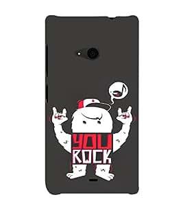 EPICCASE You Rock cover Mobile Back Case Cover For Nokia Lumia 535 (Designer Case)