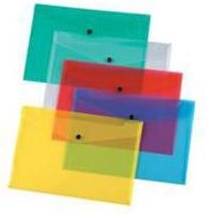 Q Connect Assorted A5 Polypropylene Document Folder (Pack of 12)