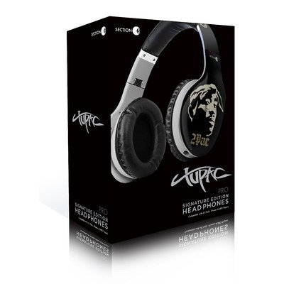 Section8 Rbp7523 Tupac Shakur Pro Series Signature Edition Headphones - Black/Gray