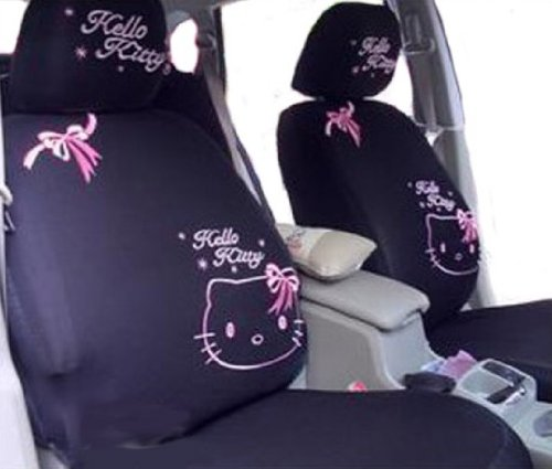 10pcs Kitty Auto Car Front Rear Seat Plush Cover Cushion Set EMS Shipping ZJ000150