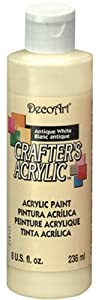 DecoArt DCA03-9 Crafters Acrylic, 8-Ounce, Antique White