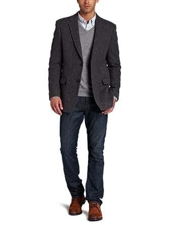 Tommy Hilfiger Men's Trim Fit Plaid Sport Coat, Grey, 36 Regular
