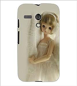 PrintDhaba Cute Doll D-1112 Back Case Cover for MOTOROLA MOTO G (Multi-Coloured)
