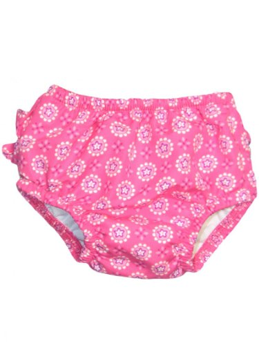 i play Baby Girls' Ultimate Snap Swim Diaper (Baby) - Hot Pink - Small (6 Months) - 1