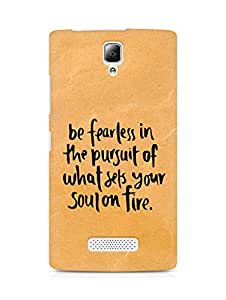 AMEZ be fearless i the pursuit Back Cover For Lenovo A2010