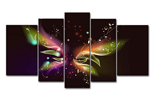 5 Piece Wall Art Painting Butterfly Pictures Prints On Canvas Abstract The Picture Decor Oil For Home Modern Decoration Print For Girls Bedroom