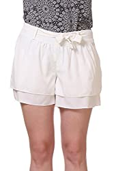 White Relaxed Fit Shorts