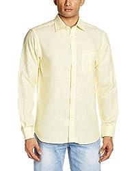 Raymond Men's Linen Casual Shirt (8907249261792_RCSX00583-Y4_Yellow_40)