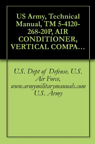 US Army, Technical Manual, TM 5-4120-268-20P, AIR CONDITIONER, VERTICAL COMPACT, FLOOR MO 36,000 BTU/HR COOLING; 30,000 BTU/HR HEATING, 208 V, 3 PHASE, ... (4120-935-5418), military manuals