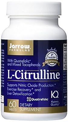 Jarrow L-Citrulline with Quatrefolic (Plus Mixed Tocopherols, 60 Tablets)