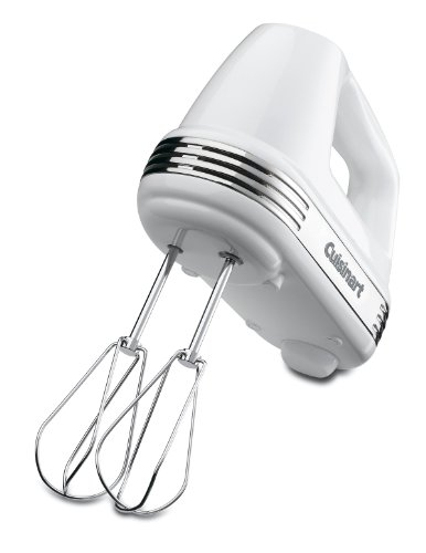 Cuisinart HM-70 Power Advantage 7-Speed Hand Mixer, Stainless and White