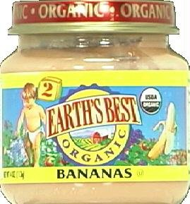 Earth's Best Organic Baby Food Stage 2 Bananas -- 4 oz