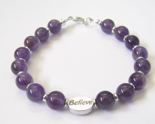 Prayer Amethyst Bracelet