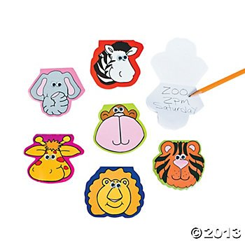 Zoo Animal-Shaped Notepads With Wiggle Eyes (24 Count)/Party Favors/Prizes/Birthday/Grab Bag/Goody Bag цены онлайн