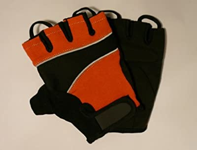 Amara Gym / Cycling / Weight Lifting Training Gloves *medium* Orange/black from Solid-Fitness